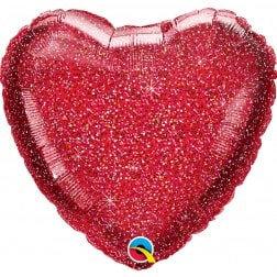 Heart Red Glitter
