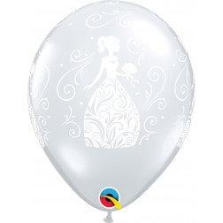 """11"""" Latex Balloon - Clear Bride"""