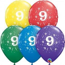 "11"" Latex Balloon-# 9 Assort."