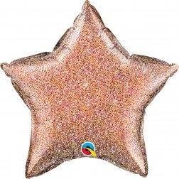 Star Rose Gold Glitter