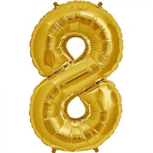 Jumbo Number 8 - Gold
