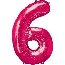 Jumbo Number 6 - Pink
