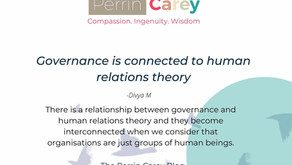 Governance is connected to human relations theory