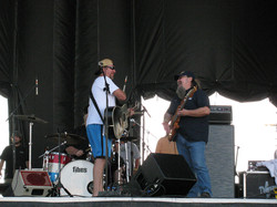 Eli and Wendell at soundcheck