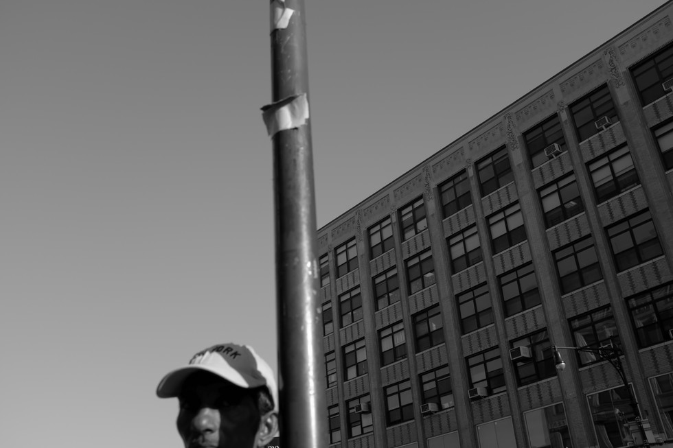Man with Hat & Pole. New York City, 2016