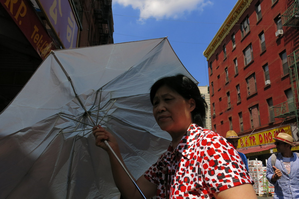Woman with Umbrella New York City, 2016