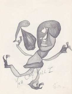 "2011 - Graphite & white-out on toreMoleskine sketchbook paper3 ½"" x 5 ½"""