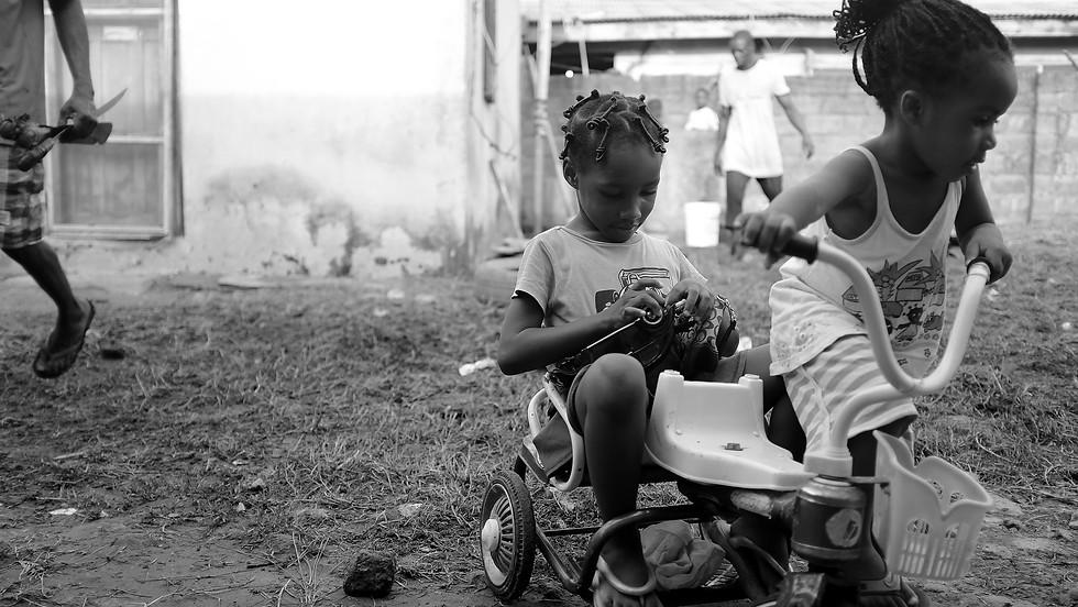 Girls on Tricycle, 2014. Lagos, Nigeria