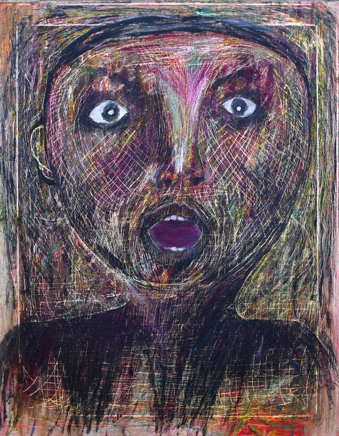 He, 2008. Oil Canvas. 18 X 24 inches