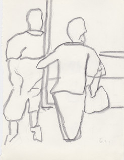 """2013 - Graphite & white-out on turn Moleskine sketchbook3 ½"""" x 5 ½"""""""