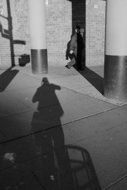 Reflection with Man. New York City, 2017