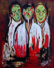 Mad Scientists, 2009. Oil on canvas. 24 x 36 inches