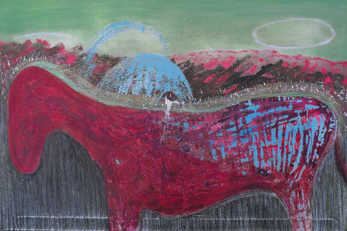 Costa Rica, 2014. Oil on canvas. 24 x 36 inches
