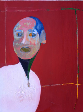 Portrait of Ptah, 2015 (Private collection, Doha Qatar). Oil on canvas. 18 x 24 inches