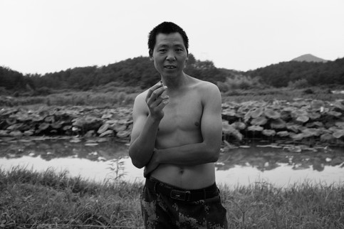 Man with Cigarette (Land of Mist series), 2018