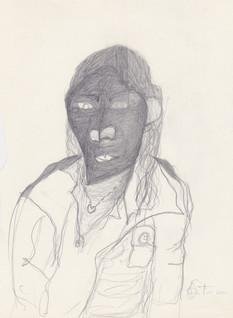 "2011 - Graphite on toreMoleskine sketchbook paper3 ½"" x 5 ½"""