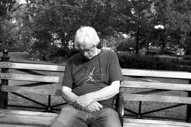 Man on Bench. New York City, 2014