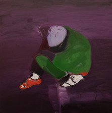 Red Shoe, 2021 Oil on canvas 48 x 48 inches