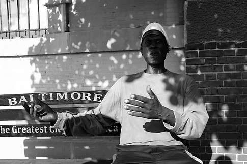 Portrait of a Man on Bench. (No Competition inConfidence series) Baltimore, 2017