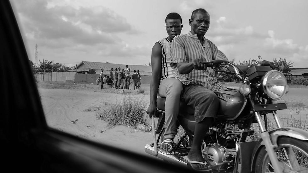 Men on Motorbike, 2014. Lagos, Nigeria