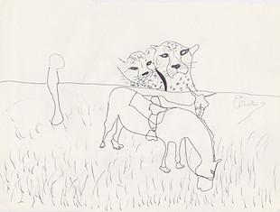 "2013 - Graphite & Pen on tore Moleskine sketchbook paper3 ½"" x 5 ½"""