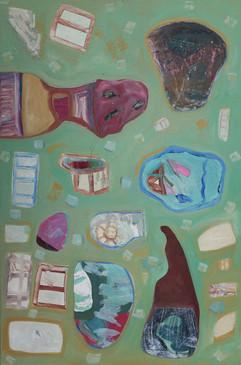 Stillborn, 2015. Oil on canvas. 24 x 36 inches
