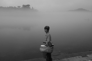 Woman with Basket (Land of Mist series), 2018