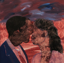The Kiss, 2020 Oil on Canvas. 24 x 24 inches