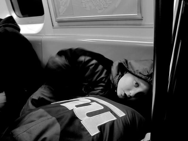 Boy on Subway. New York City, 2014