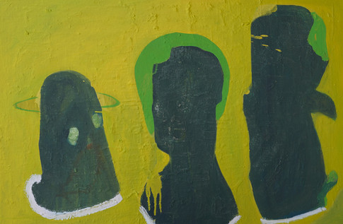 Three Figures, 2016. Oil on canvas. 24 x 36 inches