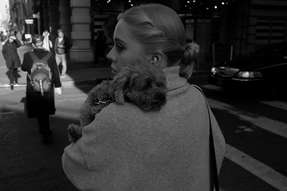 Girl with Dog.  New York City, 2017