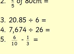 Y6 Maths 15.07.2020
