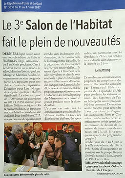 Article Salon de l'Habitat de l'Uzège