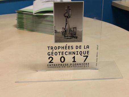 """Abesol reçoit un Trophée de """"sondeur en géotechnique"""""""