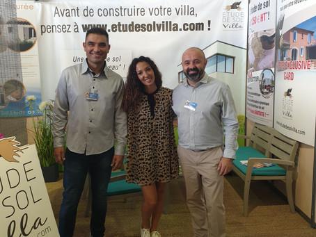 Visite d'Emmanuelle Rivassoux sur notre stand www.etudedesolvilla.com