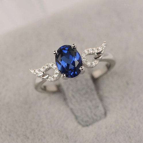 Anillo Moderno con piedra Azul