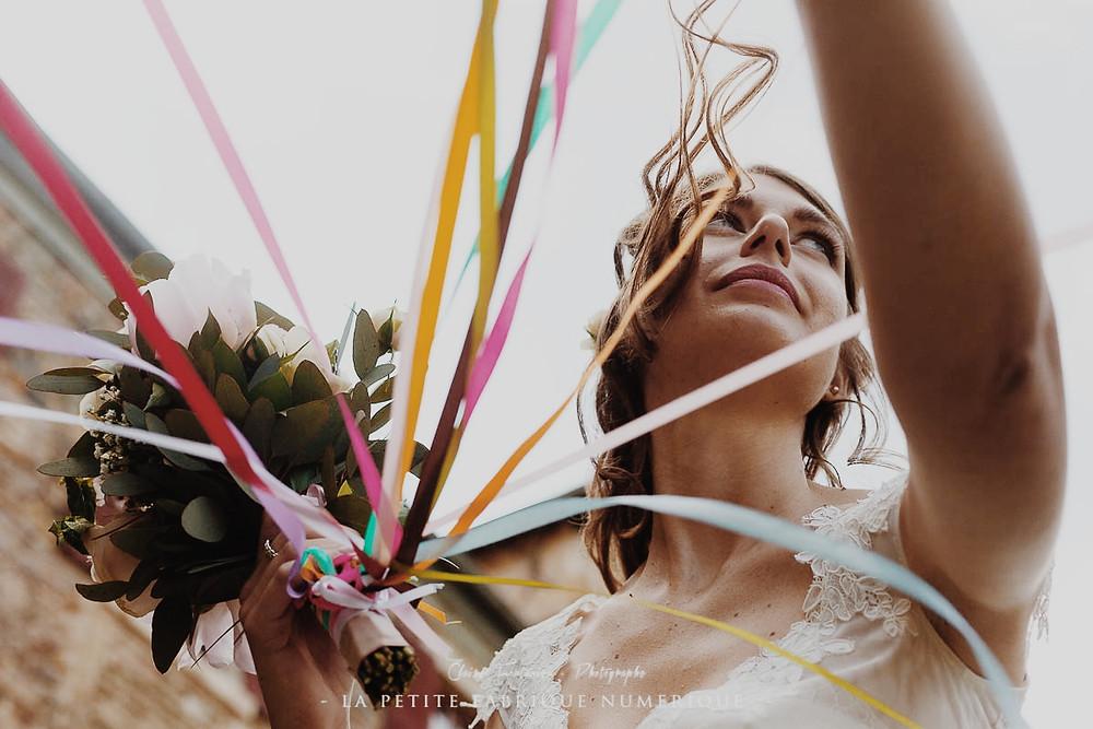 Bouquet et rubans