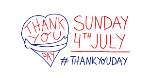 Thank you Day! Sunday 4th July - Share your gratitude!