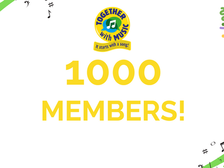 Together with Music reaches 1000 Members!!!