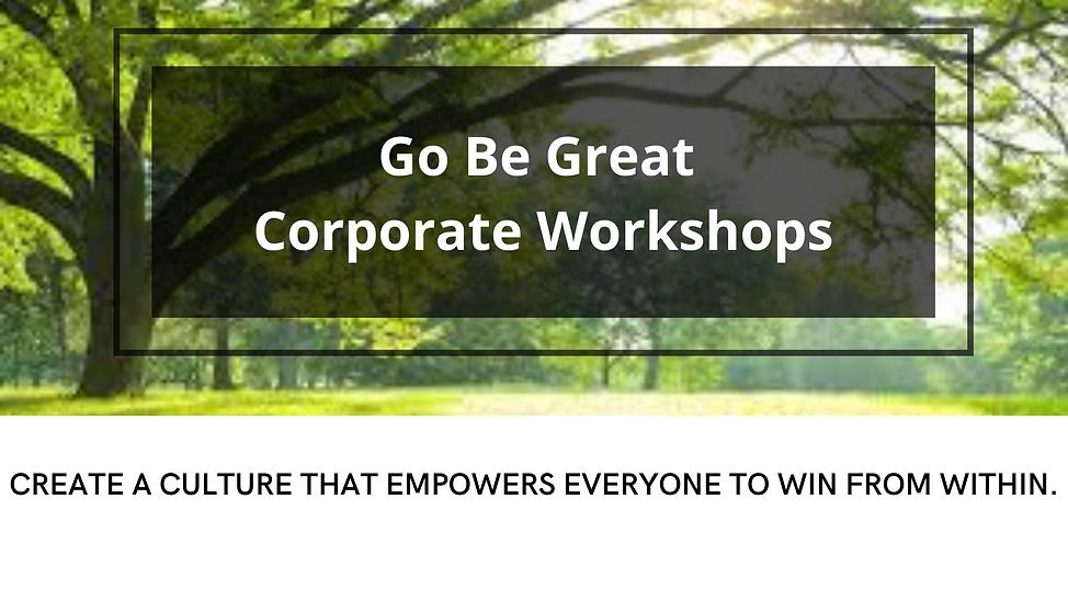 Website Go Be Great Corporate Workshops.