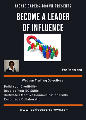 Webinar Become a Leader of Influence Web