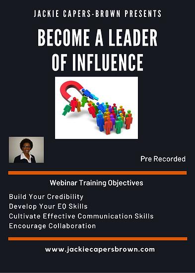 Webinar Become a Leader of Influence Web