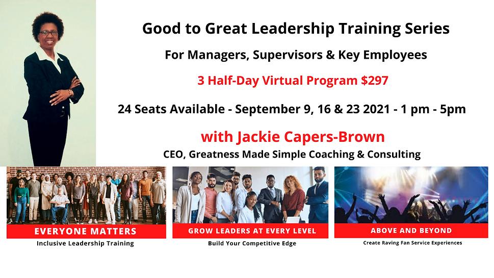 Website Good to Great Leaership Training