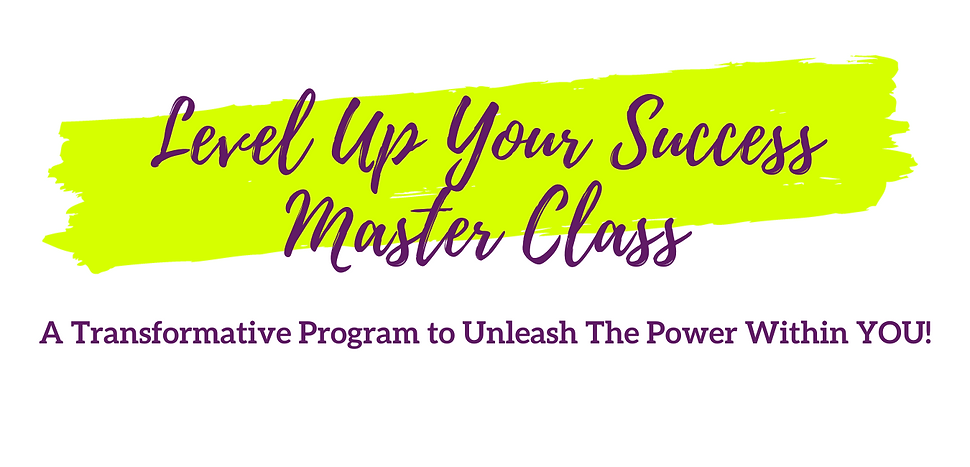 Website Level Up Your Life Master Class