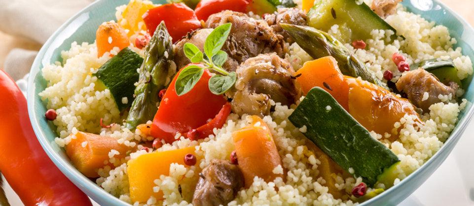 Cuscus con carne e verdure