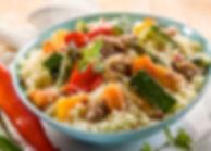 Couscous à la viande et les légumes