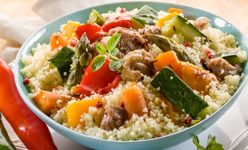 Couscous mit Fleisch und Gemüse