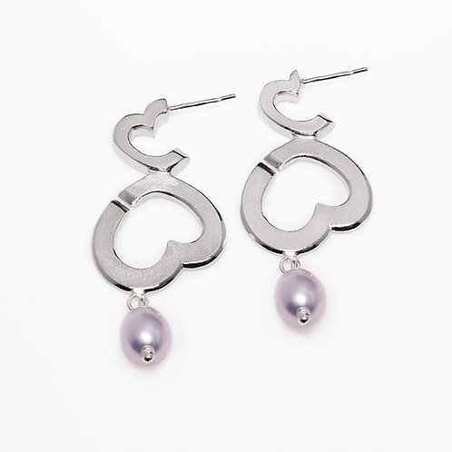 Bubblelove earrings with pearl