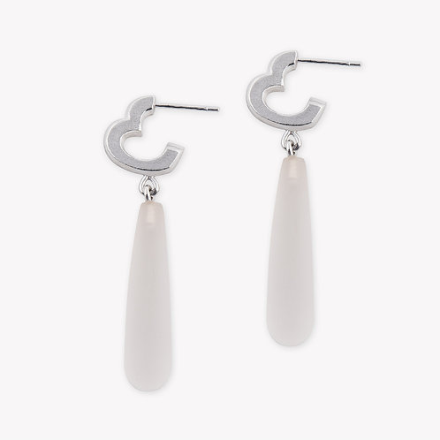 Bubblelove earrings with hanging stones