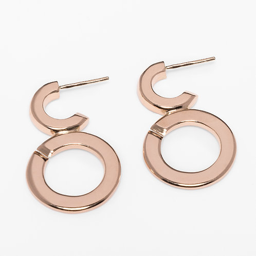 Bubbles earrings 14ca gold UNIQUE!